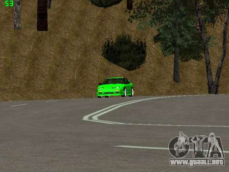 Nissan 240SX Drift Version para GTA San Andreas vista hacia atrás