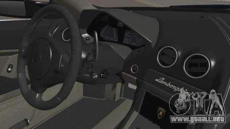 Lamborghini Reventon 2008 SLOD para vista inferior GTA San Andreas