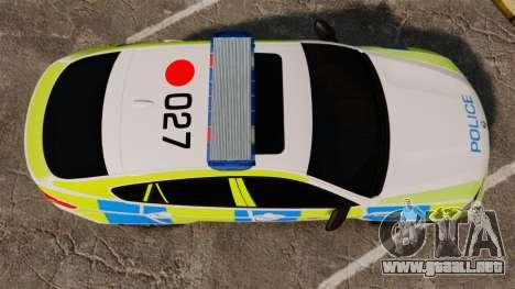 BMW X6 Lancashire Police [ELS] para GTA 4 visión correcta