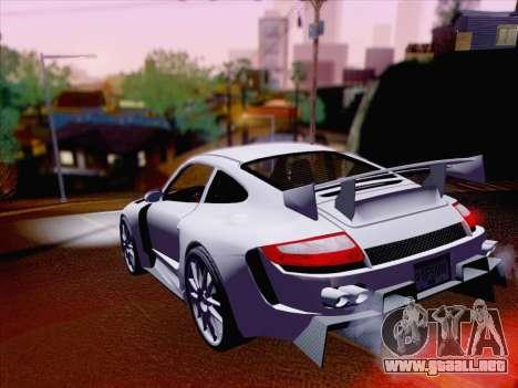 Porsche Carrera S para GTA San Andreas vista hacia atrás