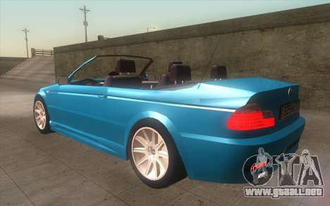 BMW 325Ci 2003 para GTA San Andreas left