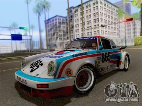 Porsche 911 RSR 3.3 skinpack 3 para la visión correcta GTA San Andreas