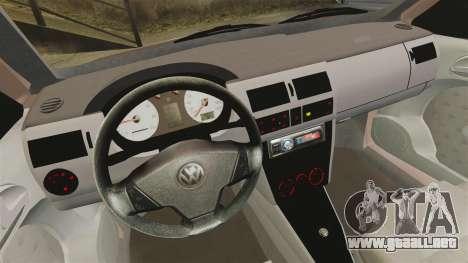 Volkswagen Saveiro G3 SuperSurf para GTA 4 vista hacia atrás