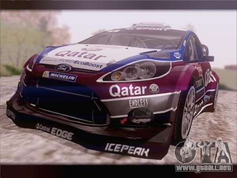 Ford Fiesta RS WRC 2013 para GTA San Andreas vista posterior izquierda