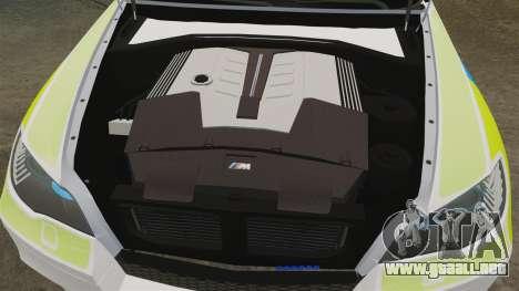BMW X6 Lancashire Police [ELS] para GTA 4 vista interior