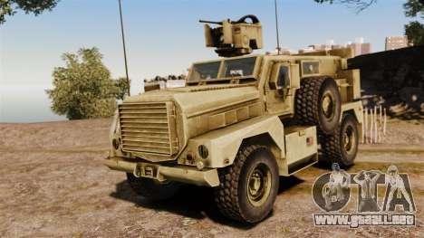 Cougar MRAP 4X4 para GTA 4