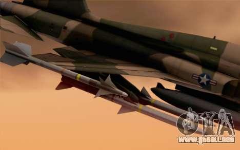 F-5 Tiger II para la visión correcta GTA San Andreas