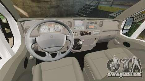 Renault Master French Red Cross [ELS] para GTA 4 vista hacia atrás