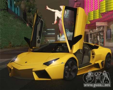 Lamborghini Reventon 2008 SLOD para GTA San Andreas vista hacia atrás