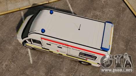 Renault Master French Red Cross [ELS] para GTA 4 visión correcta
