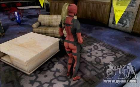 Lady Deadpool para GTA San Andreas segunda pantalla