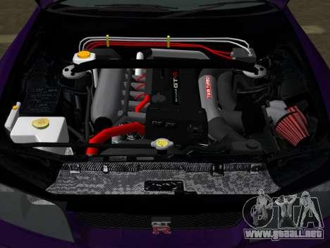 Nissan SKyline GT-R BNR33 para GTA Vice City vista superior