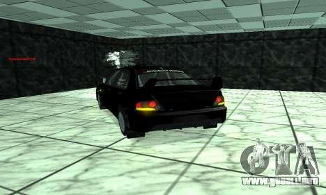 Mitsubishi Lancer Evo 9 para visión interna GTA San Andreas