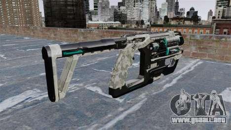 Subfusil ametrallador de Crysis 2 para GTA 4 segundos de pantalla