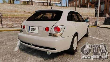 Toyota Altezza Gita para GTA 4 Vista posterior izquierda