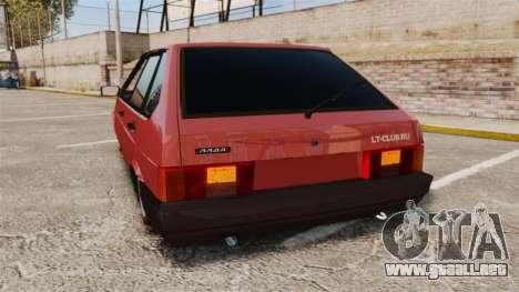 Vaz-2109 para GTA 4 Vista posterior izquierda