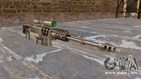 Rifle de francotirador AS50 para GTA 4