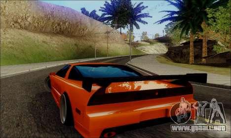 Acura NSX Drift para GTA San Andreas vista posterior izquierda