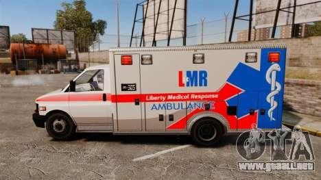 Brute Liberty Ambulance [ELS] para GTA 4 left