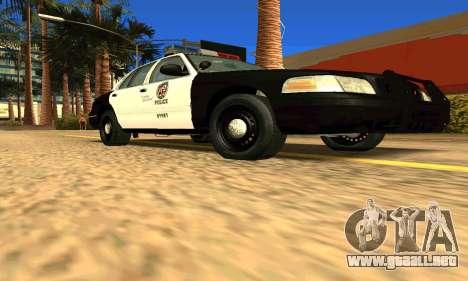 Ford Crown Victoria Police LV para la visión correcta GTA San Andreas