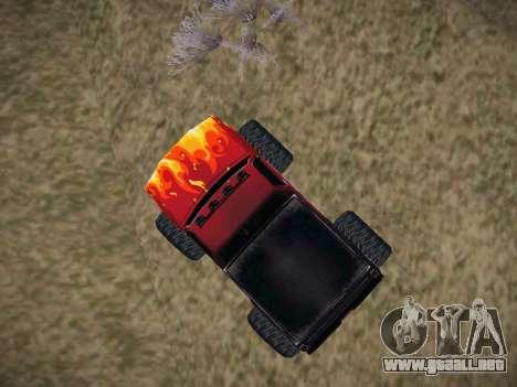 Nuevas texturas para la Monster (A) para la visión correcta GTA San Andreas