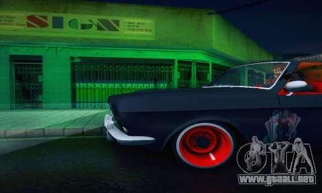 GAZ Volga 24 Cabriolet para la vista superior GTA San Andreas