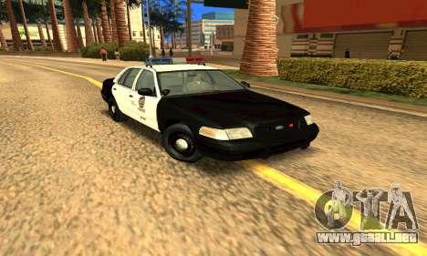 Ford Crown Victoria Police LV para GTA San Andreas vista hacia atrás