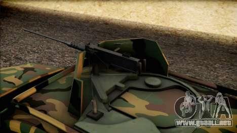 Dacia Duster Army Skin 2 para GTA San Andreas vista hacia atrás