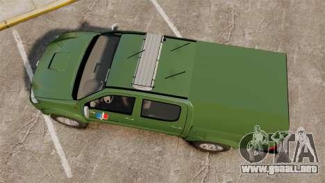 Toyota Hilux Land Forces France [ELS] para GTA 4 visión correcta