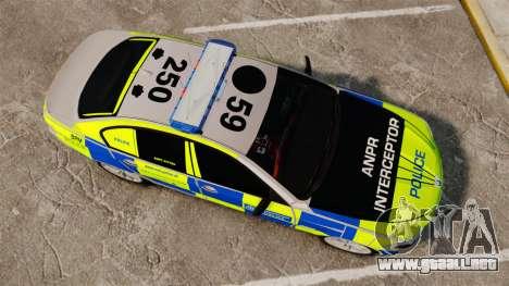 BMW 550i Metropolitan Police [ELS] para GTA 4 visión correcta