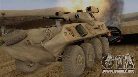 LAV-25 Desert Camo para GTA San Andreas vista hacia atrás