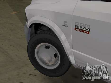 Dodge Ram 3500 Laramie 2012 para GTA Vice City vista lateral izquierdo