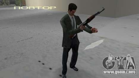 Kalashnikov para GTA Vice City segunda pantalla