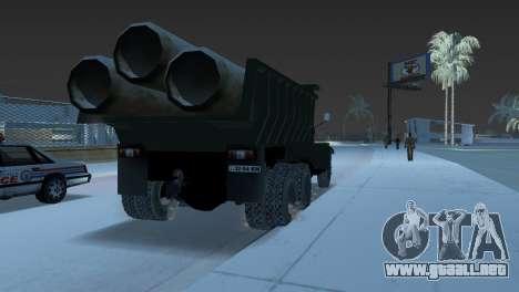 Camión KrAZ 255 para GTA Vice City vista lateral izquierdo