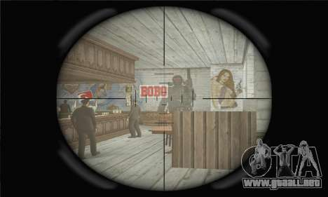 Rifle de francotirador para GTA San Andreas sucesivamente de pantalla