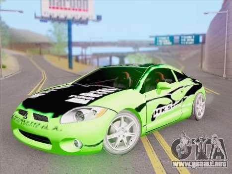 Mitsubishi Eclipse v4 para GTA San Andreas interior