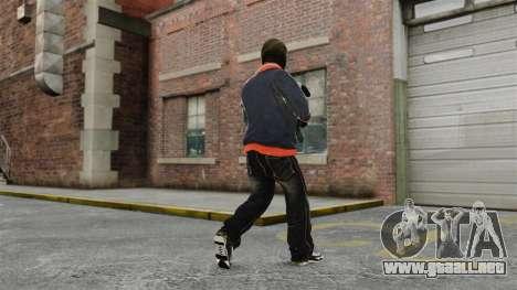 Franklin Clinton v2 para GTA 4 adelante de pantalla