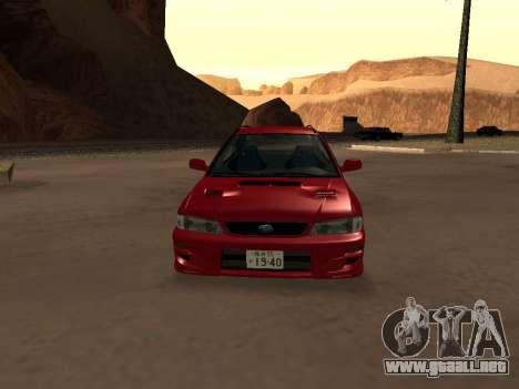 Subaru Impreza Wagon para visión interna GTA San Andreas