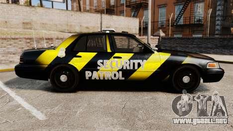 Ford Crown Victoria 2008 Security Patrol [ELS] para GTA 4 left