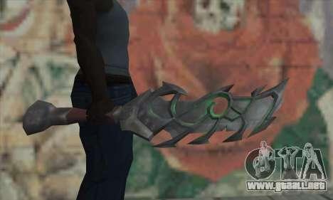 La espada de World of Warcraft para GTA San Andreas tercera pantalla