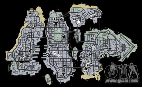 Liberty City Map V Style para GTA 4 tercera pantalla