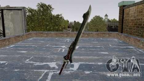 Espada rojo reina... para GTA 4 segundos de pantalla