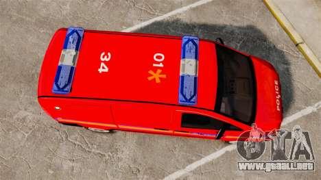 Mercedes-Benz Vito Metropolitan Police [ELS] para GTA 4 visión correcta