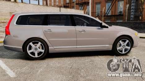 Volvo V70 Unmarked Police [ELS] para GTA 4 left
