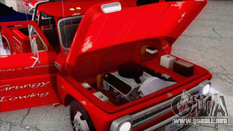 Chevrolet C20 Towtruck 1966 1.01 para la vista superior GTA San Andreas