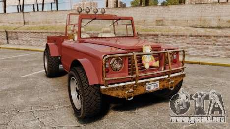 GTA V Canis Bodhi (Trevor Car) para GTA 4