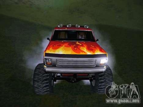 Nuevas texturas para la Monster (A) para GTA San Andreas vista hacia atrás