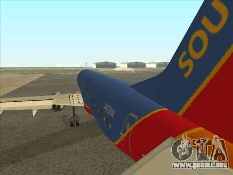 Boeing 737 Southwest Airlines para la visión correcta GTA San Andreas