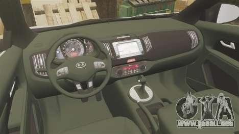 Kia Sportage Metropolitan Police [ELS] para GTA 4 vista hacia atrás
