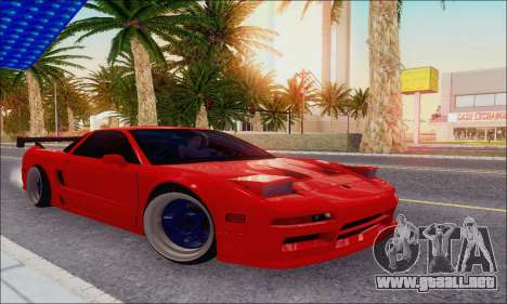 Acura NSX Drift para vista lateral GTA San Andreas